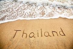 La Tailandia sulla sabbia Immagine Stock Libera da Diritti