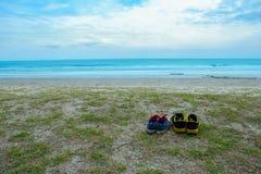La Tailandia, U.S.A., anziani attivi, spiaggia, linea costiera fotografia stock libera da diritti