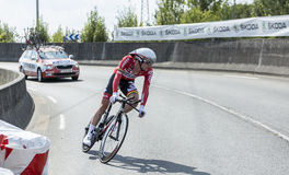La tana Broeck - Tour de France 2014 di Jurgen Van del ciclista Immagine Stock Libera da Diritti