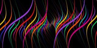 La tangente verticale curva i colori del Rainbow Fotografia Stock