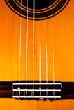 La tapa de una guitarra clásica Imagen de archivo