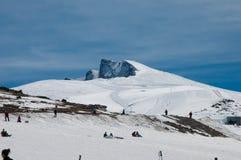 La tapa de una montaña llamó Veleta en la sierra Nevada Fotografía de archivo