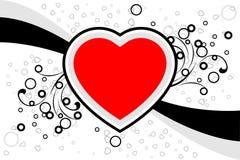 La tarjeta abstracta con los desfiles, corazón de la tarjeta del día de San Valentín forma, stars - el vect Fotos de archivo libres de regalías