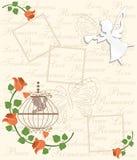 La tarjeta con subió Imagenes de archivo