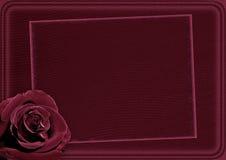 La tarjeta con un hermoso se levantó Ilustración del Vector
