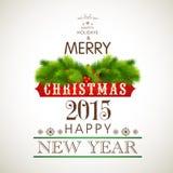 La tarjeta de felicitación de las celebraciones de la Navidad y del Año Nuevo diseña Fotos de archivo