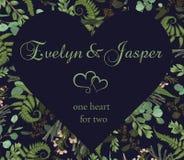 La tarjeta de felicitación de la tarjeta del día de San Valentín, invita a la tarjeta Hierbas del estilo de la acuarela del vecto stock de ilustración