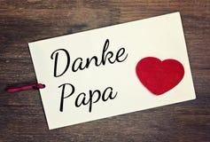 La tarjeta de felicitación le agradece papá Foto de archivo libre de regalías
