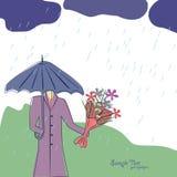 La tarjeta de felicitación linda para su se disculpa. Imagen de archivo libre de regalías