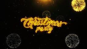 La tarjeta de felicitaciones de los deseos de la fiesta de Navidad, invitación, fuego artificial de la celebración colocó