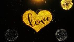 La tarjeta de felicitaciones romántica de los deseos del corazón del amor de las tarjetas del día de San Valentín, invitación, fu ilustración del vector