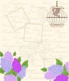 La tarjeta de la lila Fotografía de archivo libre de regalías