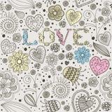 La tarjeta de la tarjeta del día de San Valentín con las flores. Foto de archivo libre de regalías