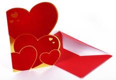 La tarjeta de la tarjeta del día de San Valentín de San Imagen de archivo