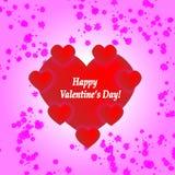 La tarjeta de la tarjeta del día de San Valentín del santo Fotos de archivo