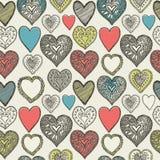 La tarjeta de la tarjeta del día de San Valentín. Pares de los búhos. Fotografía de archivo libre de regalías