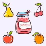 La tarjeta de las frutas Fotografía de archivo libre de regalías