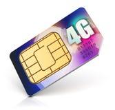 La tarjeta de SIM para 4G permitió al operador Foto de archivo libre de regalías