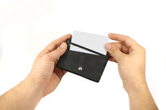 Tenedor de la tarjeta de visita Imagen de archivo