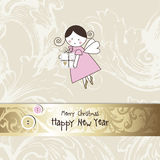 La tarjeta del Año Nuevo Fotografía de archivo libre de regalías