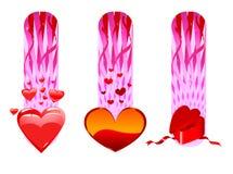 La tarjeta del día de San Valentín carda la colección Stock de ilustración
