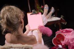 La tarjeta del día de San Valentín le agradece Foto de archivo libre de regalías