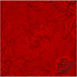 La tarjeta del día de San Valentín se levantó con el fondo de los corazones del grunge ilustración del vector