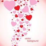 La tarjeta del día de tarjeta del día de San Valentín Foto de archivo libre de regalías