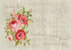 La tarjeta elegante de la lavanda Fotografía de archivo