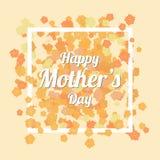 La tarjeta feliz del día de madres con la manzanilla anaranjada florece el fondo Imagen de archivo