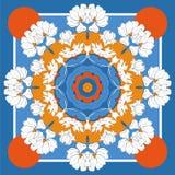 La tarjeta, pañuelo imprime, diseño del pañuelo, servilleta Modelo adornado beige azul marino en vlue en colores pastel Aliste pa imagen de archivo libre de regalías