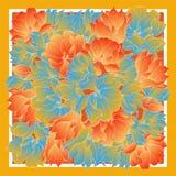 La tarjeta, pañuelo imprime, diseño del pañuelo, servilleta Modelo adornado beige azul marino en vlue en colores pastel Aliste pa fotografía de archivo libre de regalías