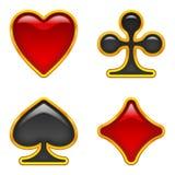 La tarjeta se adapta a los botones, conjunto Imágenes de archivo libres de regalías