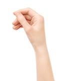 La tarjeta virtual del asimiento de la mano aisló fotos de archivo libres de regalías