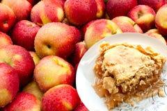 La tarte aux pommes et les pommes fraîches de la grand-maman Images libres de droits