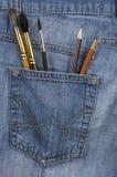 La tasca dell'artista Fotografie Stock