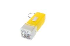 La tasca gialla elettrica ha condotto la torcia elettrica o la torcia Fotografia Stock Libera da Diritti