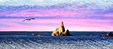 La Tasmania oscilla il mare del gabbiano Fotografie Stock Libere da Diritti