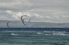 La tasse internationale 2015 de funboard de Boracay Photos stock
