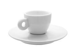 La tasse pour le café d'expresso des 30 ml classiques blancs Image libre de droits