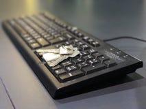 la tastiera è la chiave a successo Fotografia Stock