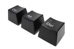 La tastiera abbottona il Ctrl, alt, Del ha isolato Fotografie Stock Libere da Diritti