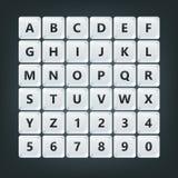 La tastiera abbottona l'alfabeto Fotografia Stock Libera da Diritti