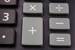 La tastiera del calcolatore su vasta scala Bottoni con la m. fotografie stock libere da diritti