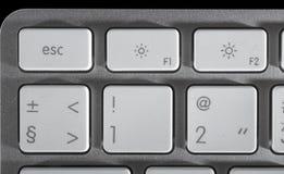 La tastiera di alluminio immagini stock libere da diritti