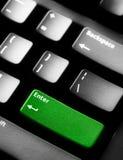 La tastiera di calcolatore con isolato entra nel tasto Fotografia Stock Libera da Diritti