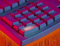 La tastiera di computer con il punto culminante sopra entra nella chiave Immagine Stock Libera da Diritti