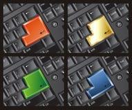 La tastiera entra nel modello stabilito Immagini Stock