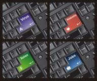 La tastiera entra nell'insieme Fotografie Stock Libere da Diritti