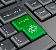 La tastiera ricicla il tasto Fotografie Stock